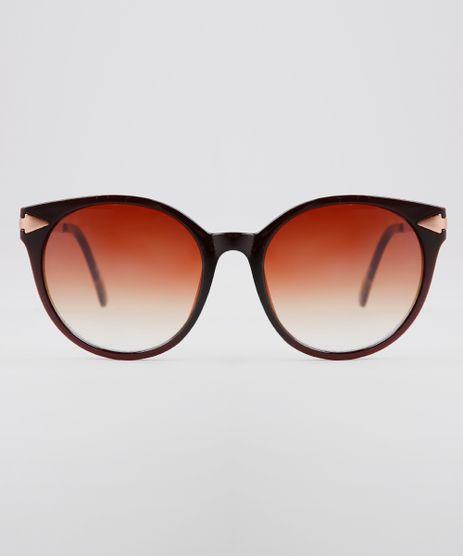 Oculos-de-Sol-Redondo-Feminino-Oneself-Marrom-9636188-Marrom_1