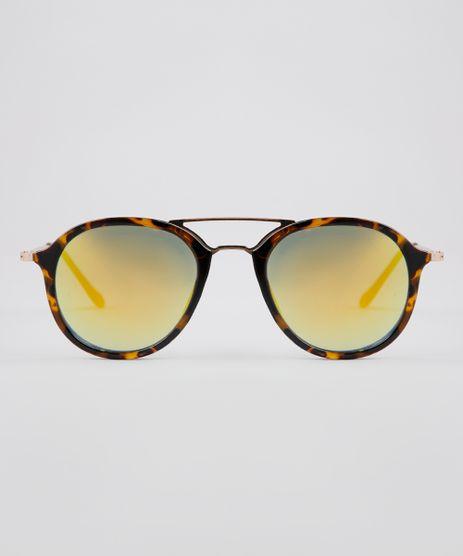 Oculos-de-Sol-Redondo-Feminino-Oneself-Tartaruga-9640282-Tartaruga_1