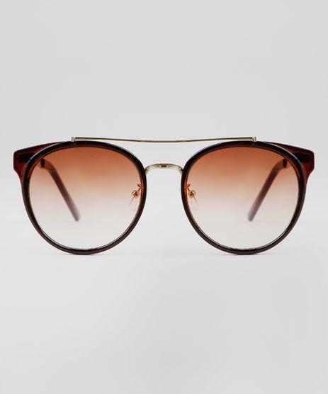 Oculos-de-Sol-Redondo-Feminino-Oneself-Marrom-9636158-Marrom_1