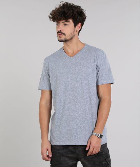 Camiseta-Masculina-Basica-Manga-Curta-Gola-V-Cinza-Mescla-8480548-Cinza_Mescla_2_1