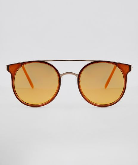 Oculos-de-Sol-Redondo-Unissex-Oneself-Dourado-9636119-Dourado_1