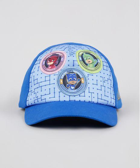 Bone-Infantil-Aba-Curva-PJ-Masks-Azul-Royal-9542503-Azul_Royal_1