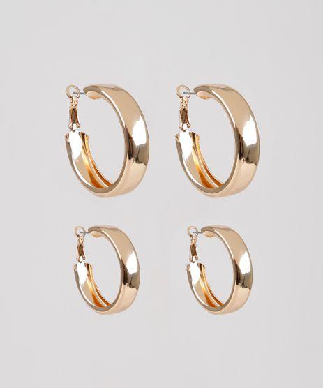Kit-de-2-Brincos-Femininos-de-Argola-Dourado-9532694-Dourado_1