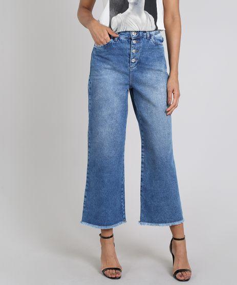 Calca-Jeans-Feminina-Pantalona-Mindset-Cintura-Super-Alta-com-Botoes-Azul-Medio-9391033-Azul_Medio_1