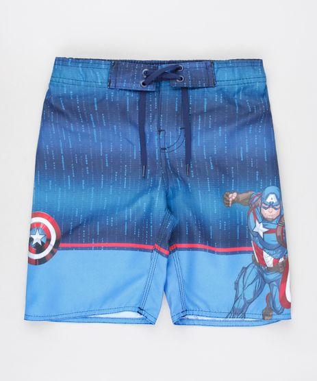 Bermuda-Surf-Infantil-Capitao-America-Estampada-Azul-9571622-Azul_1