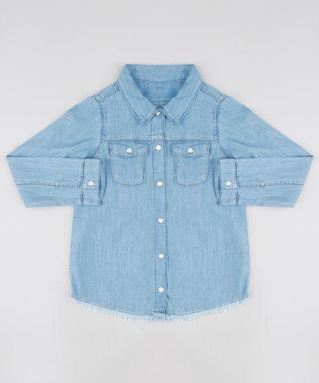 Camisa-Jeans-Infantil-Com-Bolsos-Manga-Longa-Azul-Claro-9554908-Azul_Claro_1