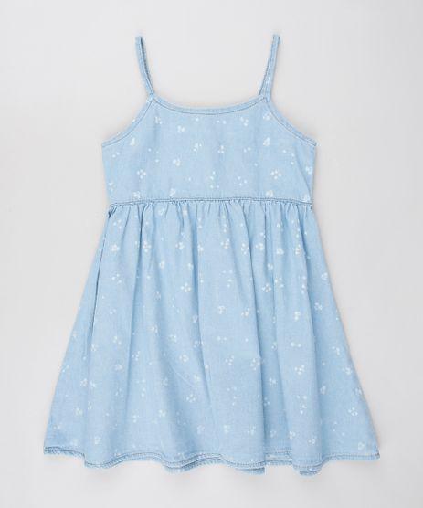 Vestido-Jeans-Infantil-Estampado-Floral-com-Botoes-Alcas-Finas--Azul-Claro-9584405-Azul_Claro_1