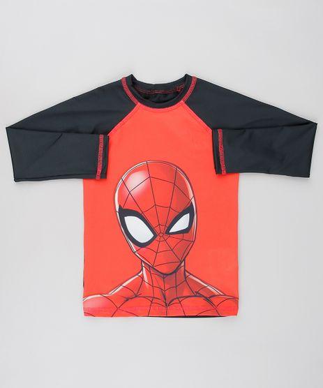 Camiseta-de-Praia-Infantil-Homem-Aranha-Raglan-Manga-Longa-Preta-9525981-Preto_1
