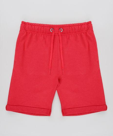Bermuda-Infantil-em-Moletom-com-Bolso-Vermelha-9552128-Vermelho_1