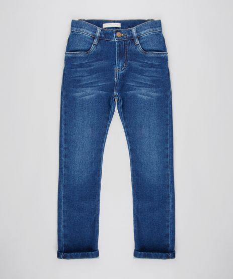 Calca-Jeans-Infantil-Skinny-em-Moletom-com-Bolsos-Azul-Escuro-9615885-Azul_Escuro_1