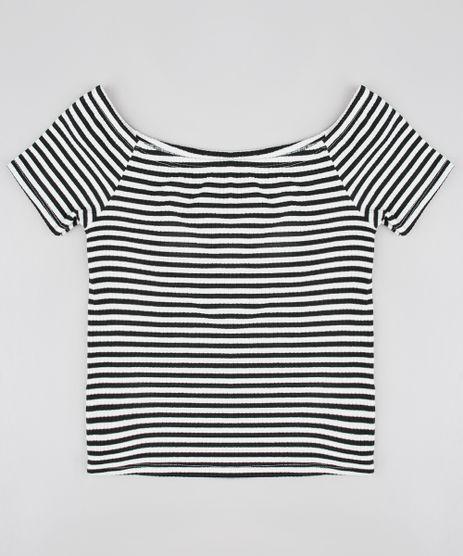 Blusa-Infantil-Cropped-Ombro-a-Ombro-Listrada-Canelada-Branca-9552410-Branco_1