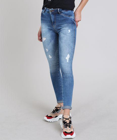 Calca-Jeans-Feminina-Sawary-Super-Skinny-com-Rasgos-Azul-Medio-9619264-Azul_Medio_1