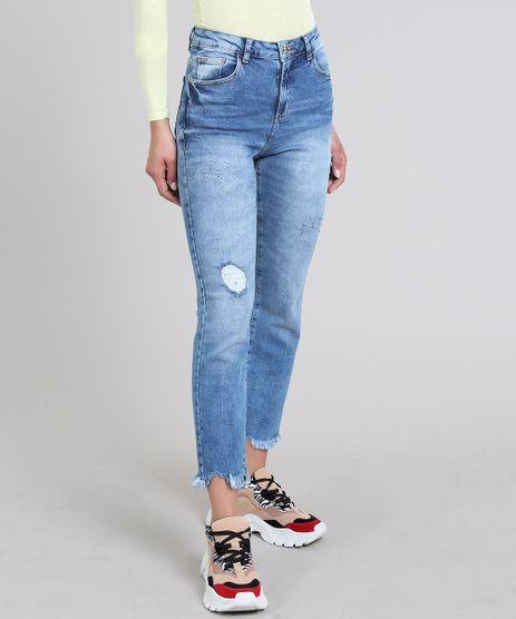Calca-Jeans-Feminina-Sawary-Reta-Cropped-Azul-Medio-9619266-Azul_Medio_1