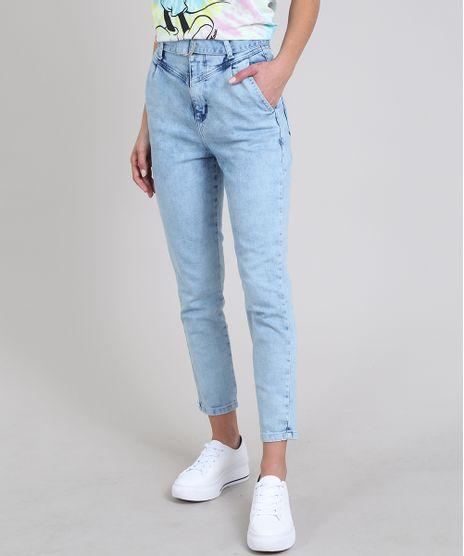 Calca-Jeans-Feminina-Sawary-Mom-com-Cinto-Azul-Claro-9605060-Azul_Claro_1