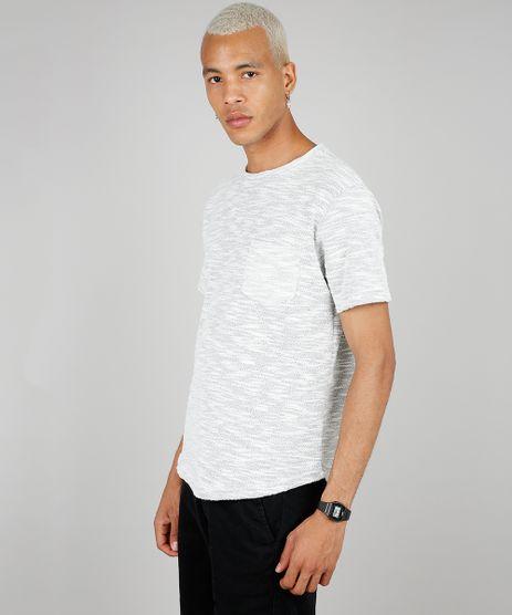 Camiseta-Masculina-em-Moletom-com-Bolso-Manga-Curta-Gola-Careca-Cinza-Mescla-Claro-9585823-Cinza_Mescla_Claro_1