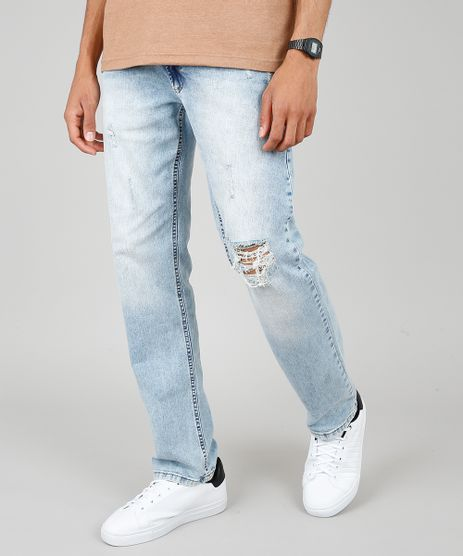 Calca-Jeans-Masculina-Reta-com-Rasgos-Azul-Claro-9532885-Azul_Claro_1