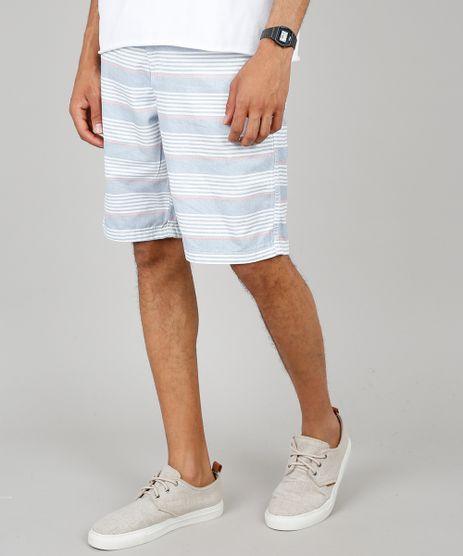Bermuda-Masculina-Slim-Listrada-com-Cordao-e-Bolsos--Branca-9486515-Branco_1