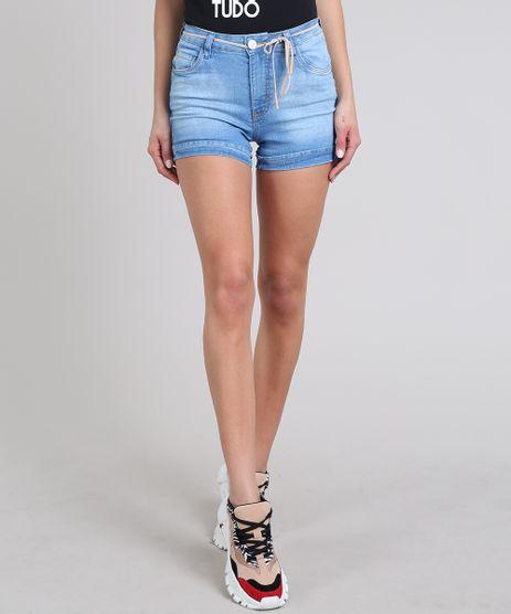 Short-Jeans-Feminino-Reto-Barra-Dobrada-com-Cinto-Azul-Claro-9605645-Azul_Claro_1