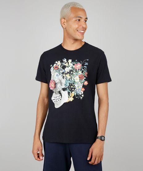 Camiseta-Masculina-Caveira-Manga-Curta-Gola-Careca-Preta-9585824-Preto_1