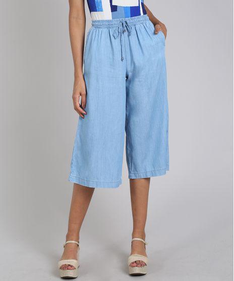 Calca-Jeans-Feminina-Pantacourt-com-Bolsos-Azul-Claro-9594602-Azul_Claro_1