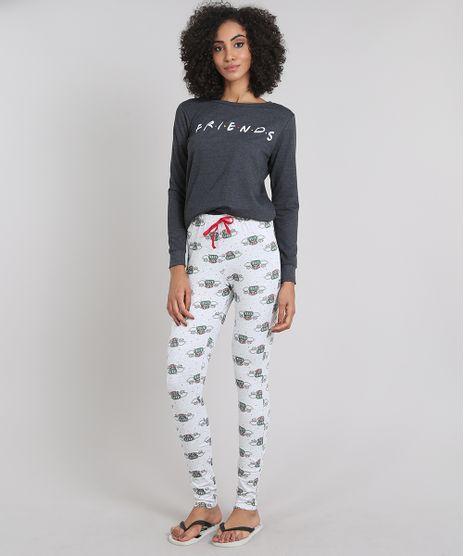 Pijama-Feminino-Friends-em-Moletom-Manga-Longa-Cinza-Mescla-Escuro-9547559-Cinza_Mescla_Escuro_1