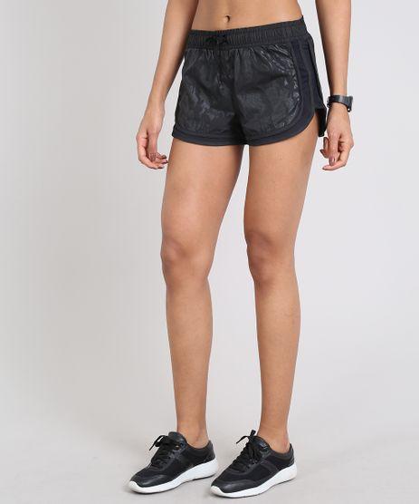 Short-Feminino-Esportivo-Ace-Running-Estampado-com-Recortes--Preto-9535416-Preto_1