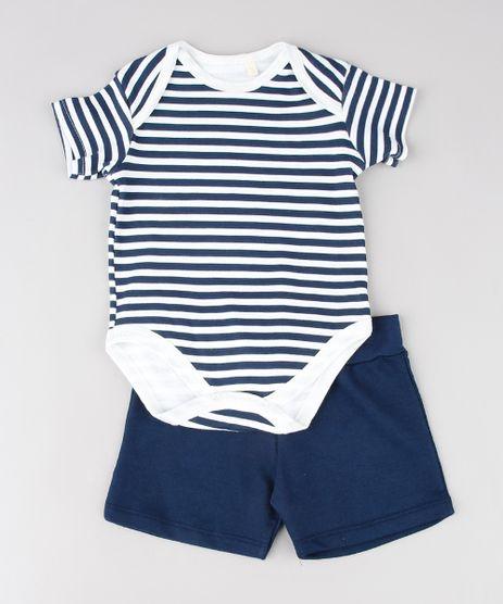 Conjunto-Infantil-de-Body-Listrado-Branco---Short-em-Moletom-Azul-Marinho-9577631-Azul_Marinho_1