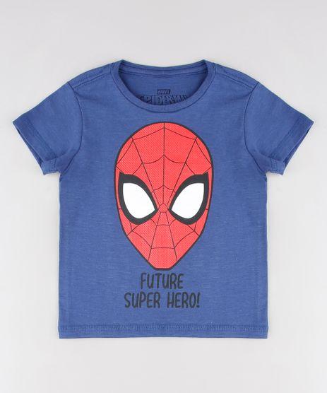 Camiseta-Infantil-Homem-Aranha-Manga-Curta-Gola-Careca-Azul-Marinho-9608840-Azul_Marinho_1