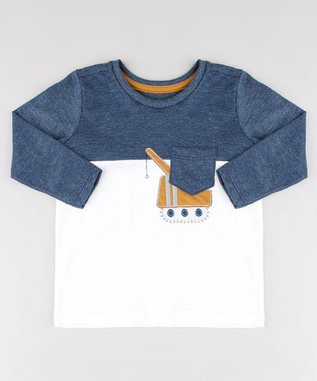 Camiseta-Infantil-com-Recorte-de-Trator-e-Bolso-Manga-Longa-Off-White-9531226-Off_White_1
