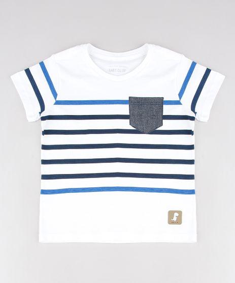 Camiseta-Infantil-com-Listras-e-Bolso-Manga-Curta-Off-White-9532560-Off_White_1