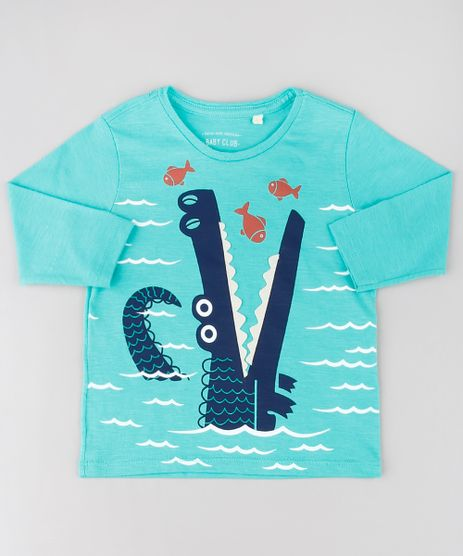 Camiseta-Infantil-Estampa-Interativa-de-Jacare-Manga-Longa-Gola-Careca-Verde-Claro-9530788-Verde_Claro_1