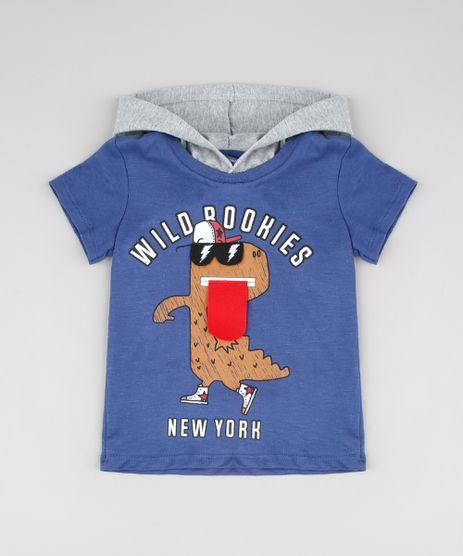 Camiseta-Infantil-Estampa-Interativa-de-Dinossauro-com-Capuz-Manga-Curta-Azul-Marinho-9532558-Azul_Marinho_1