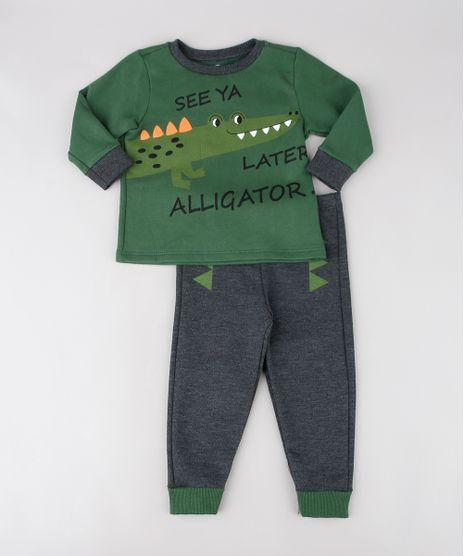 Pijama-Infantil-Jacare-em-Moletom-Manga-Longa-Verde-9567832-Verde_1