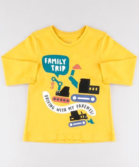 Camiseta-Infantil-com-Estampa-Interativa-de-Carros-Manga-Longa-Mostarda-9530790-Mostarda_1