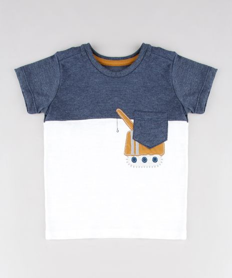 Camiseta-Infantil-com-Recorte-de-Trator-e-Bolso-Manga-Curta-Off-White-9531225-Off_White_1