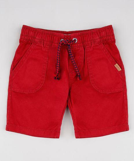 Bermuda-de-Sarja-Infantil-com-Bolsos-e-Cordao-Vermelha-9527117-Vermelho_1