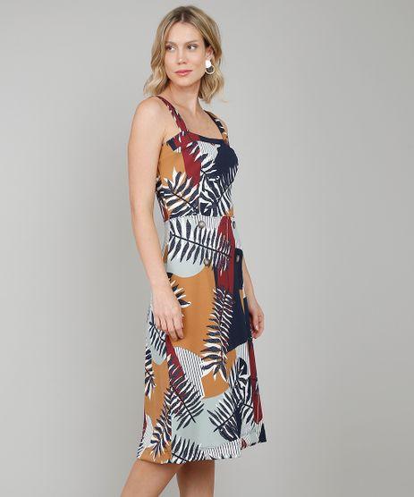 Vestido-Feminino-Midi-Estampado-Folhagens-com-Botoes-Off-White-9574001-Off_White_1