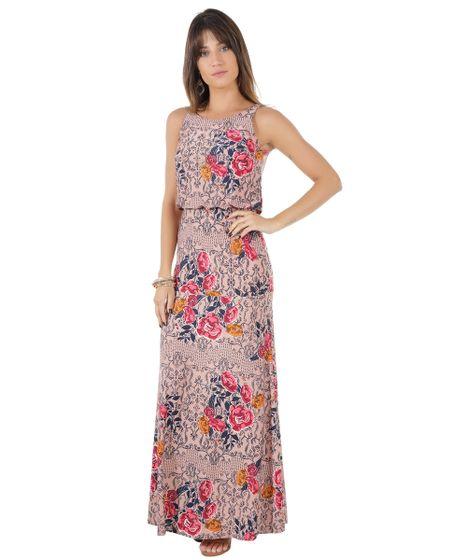 472b274e2 Vestido-Longo-Estampado-Floral-Rosa-Claro-8542608-Rosa Claro 1 ...