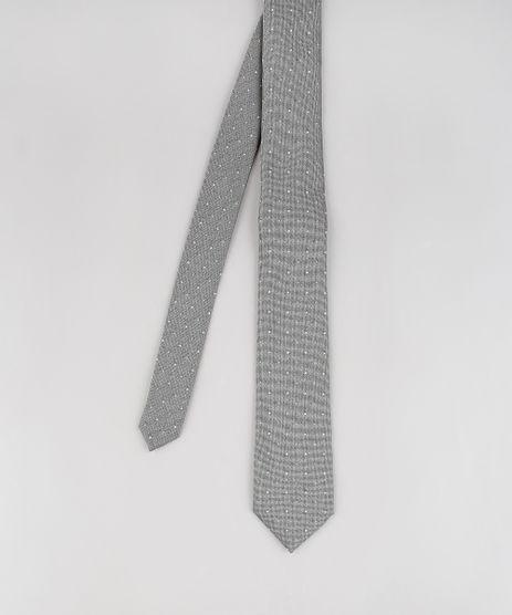 Gravata-Masculina-Texturizada-Estampada-de-Poas--Cinza-9545720-Cinza_1