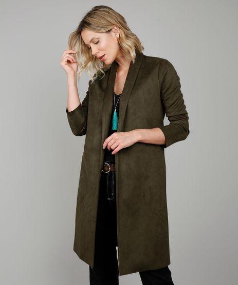 Capa-Feminina-Longa-em-Suede-Verde-Escuro-9361122-Verde_Escuro_1