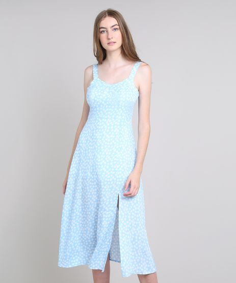 Vestido-Feminino-Mindset-Midi-Estampado-Floral-com-Fenda-Alca-Media-Azul-Claro-9688658-Azul_Claro_1