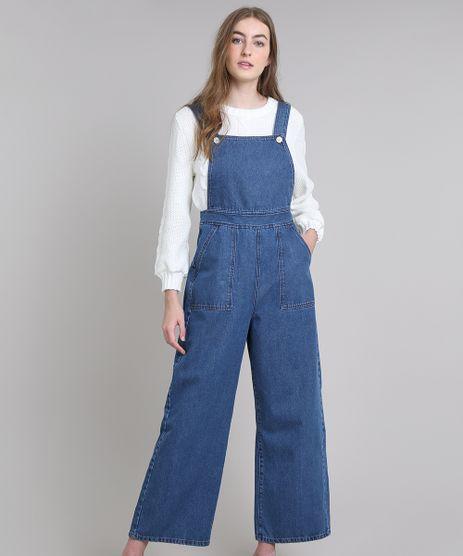 Macacao-Jeans-Feminino-Mindset-Pantalona-com-Bolsos-Azul-Medio-9674900-Azul_Medio_1