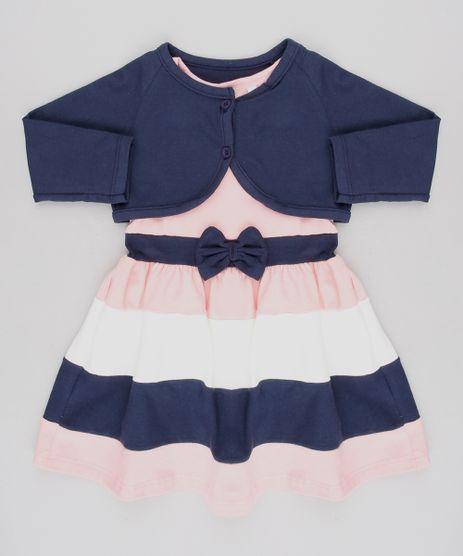 Vestido-Infantil-Sem-Manga-Rosa-Claro---Bolero-Manga-Longa-Azul-Marinho-9540145-Azul_Marinho_1