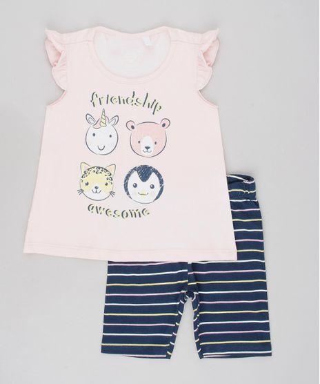 Conjunto-Infantil-de-Blusa-Animais-Sem-Manga-Rosa-Claro---Bermuda-Legging-Listrada-Azul-Marinho-9557600-Azul_Marinho_1