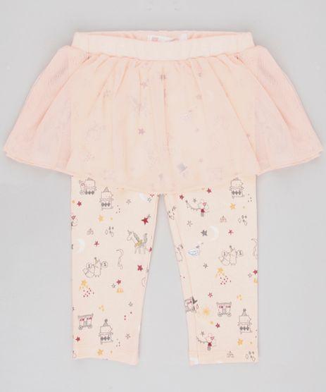 Calca-Legging-Infantil-Estampada-Unicornios-com-Tule-Laranja-Claro-9450990-Laranja_Claro_1