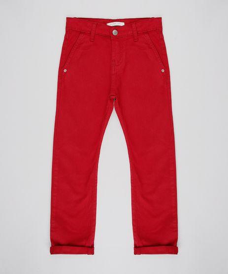 Calca-de-Sarja-Infantil-Slim-com-Bolsos-Vermelha-9528634-Vermelho_1