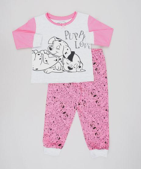 Pijama-Infantil-Dalmatas-Manga-Longa-Cinza-Mescla-9528478-Cinza_Mescla_1