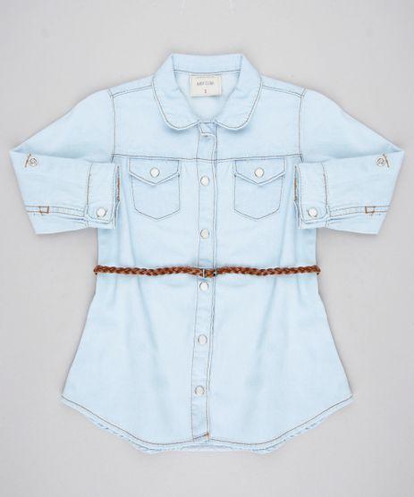 Vestido-Chemise-Jeans-Infantil-com-Bolsos-Manga-Longa-e-Cinto--Azul-Claro-9418160-Azul_Claro_1