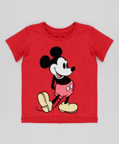 Camiseta-Infantil-Mickey-Flocada-Manga-Curta-Vermelha-9606291-Vermelho_1