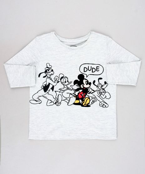 Camiseta-Infantil-Mickey-Mouse-Manga-Longa-Cinza-Mescla-Claro-9640556-Cinza_Mescla_Claro_1